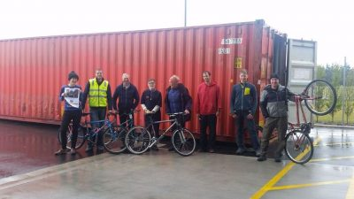273 The team in NZ with bikes and container