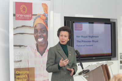 Transaid Showcase 2016 at Eversheds, City of London, HRH The Princess Royal.